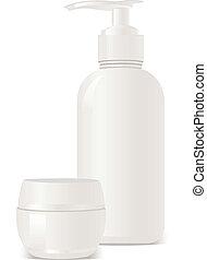 vector cosmetics soap and gel conta