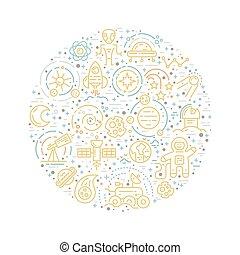 Cosmos Concept - Vector Cosmos Concept illustration