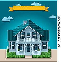 Vector cottage XXL icon - Detailed icon representing...