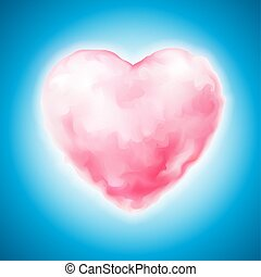 Vector cotton candy heart icon valentine sweet - Vector...