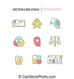 Vector Counseling Icons - Psychology and mental health...