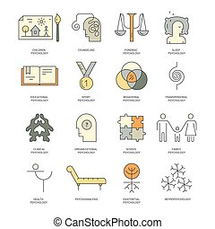 Vector Counseling Icons - Therapist and counseling process...