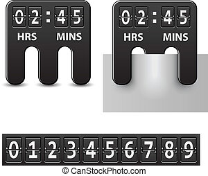 vector countdown attached mechanical timer
