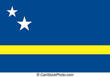 Curacao flag - Vector Country of Curacao flag