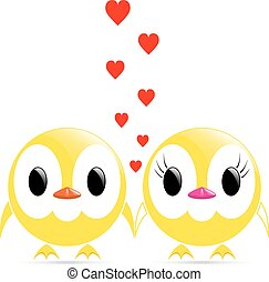 vector couple chicks