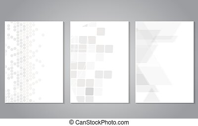 Vector cover and brochure template with grey geometry background. Business concept for layout, brochure, flyer, annual report, magazine, business banner, web design, presentation.