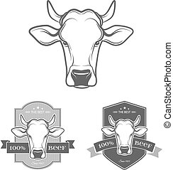 Vector Cow label