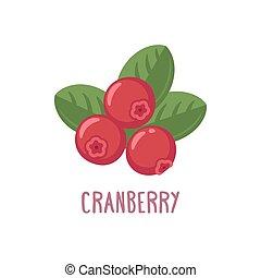 Vector cranberry icon