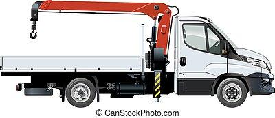 Vector crane template isolated on white - Vector crane truck...