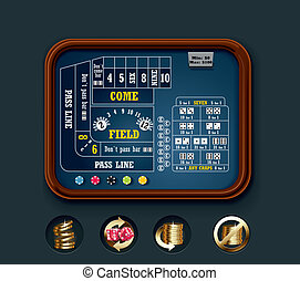 Vector craps table layout (small)