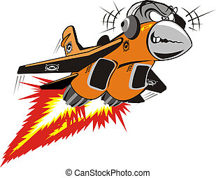 Vector Crazy Jet. Available EPS-8 vector format separated by groups and layers for easy edit