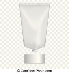 Vector cream tube. - Isolated vector mock up tube with a...