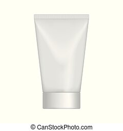Vector cream tube. - Vector mock up tube with a cover for...
