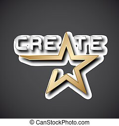 vector create golden star