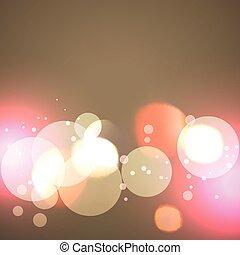 creative background of bokeh lights