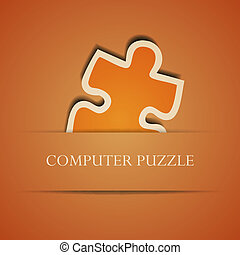 Vector creative computer puzzle background. Eps10 illustration