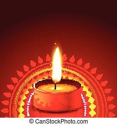 creative diwali diya background