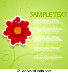 Vector creative flowers background for wedding or invitation