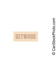 Vector creative illustration of network word