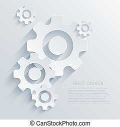 Vector creative mechanism icon background. Eps 10