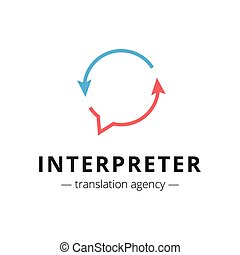 Vector creative translation agency logo