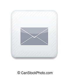 Vector creative white app icon on white background. Eps10