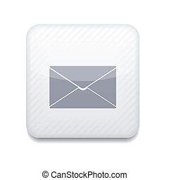 Vector creative white app icon on white background. Eps10