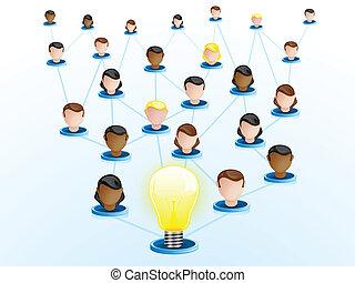 Creativity Network Crowdsourcing - Vector - Creativity ...