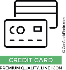 Vector credit card icon. Premium quality graphic design element. Modern sign, linear pictogram, outline symbol, simple thin line icon