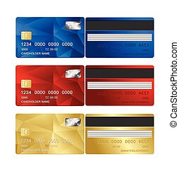 Vector Credit Card set two sides.