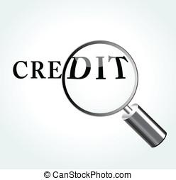 Vector credit concept illustration