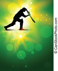 vector cricket background - cricket background with batsman...