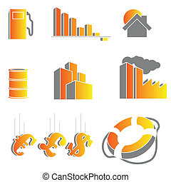 Vector crisis icons