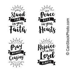 vector, cristiano, conjunto, emblema, bíblico