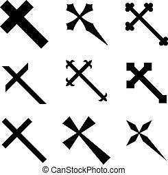 vector, cristiano, cruces