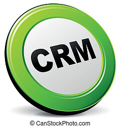 Vector illustration of crm 3d icon on white background
