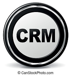 Vector crm icon - Vector illustration of black and chrome ...