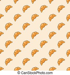 vector croissant seamless background pattern