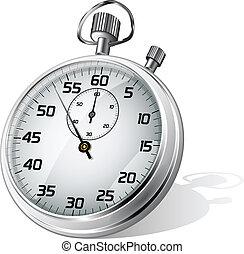vector, cronómetro