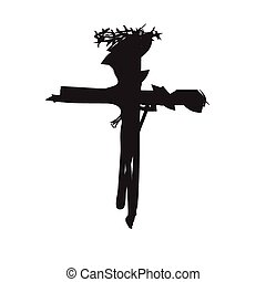 Vector cross religion abstract