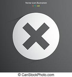 Vector cross web icon