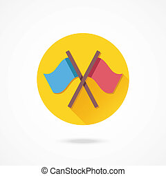 Vector Crossed Flags Icon