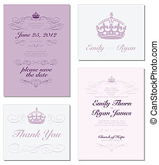 Vector Crown and Ornament Frame Set. Easy to edit. Perfect...