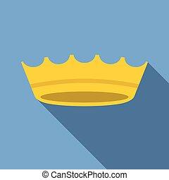 Vector crown icon, flat design