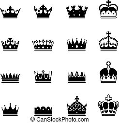 Vector Crown Icons Set