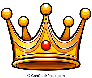 Vector crown on white background