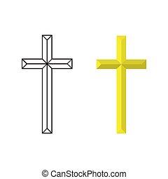 Vector crucifix cross. - Vector cross crucifix. Christian...