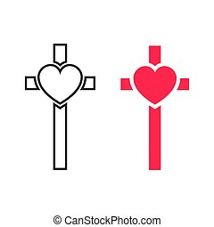Vector crucifix cross.