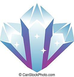 Vector crystal icon