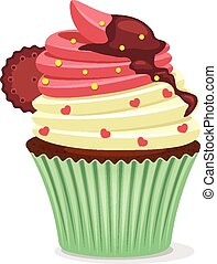 Vector cup cake illustration